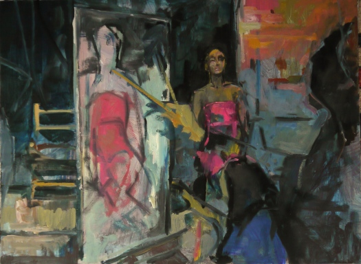 melmoux atelier de Martinatrap, huile sur toile 60X40